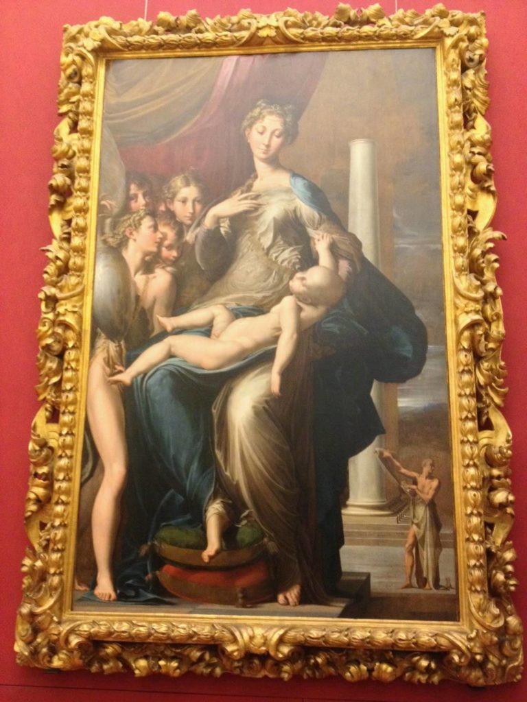 ウフィツィ美術館の「長い首の聖母」