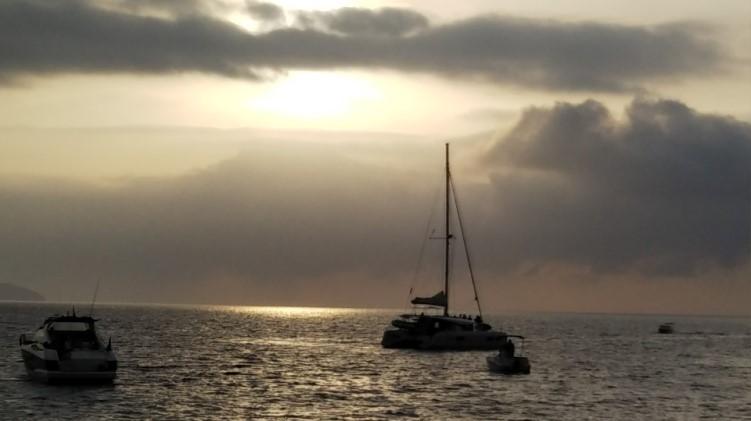 イビサ島のサン・アントニ(San Antoni)のサンセット