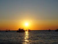 イビサ島のサン・アントニの夕日