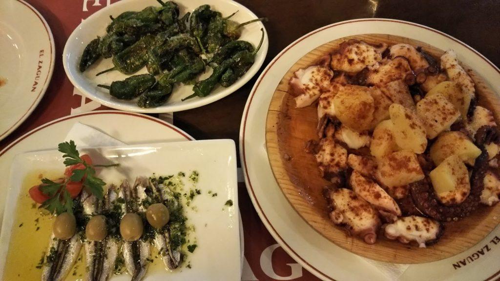 イビサタウンのエル・サグアン(El Zaguan)の料理