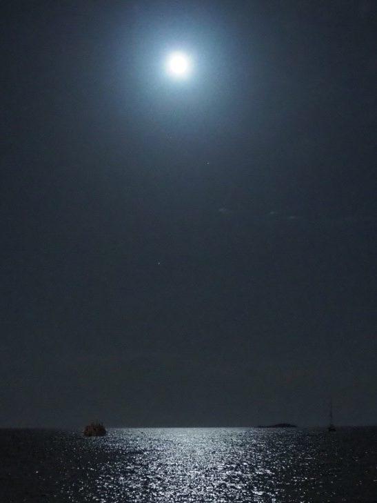 イビサタウンのプリンチペ(Principe)から見える夜景