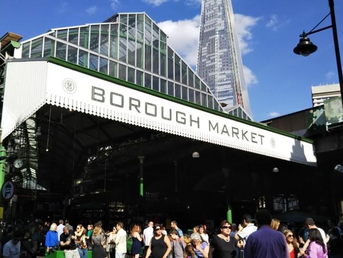 バラマーケットのある、地下鉄ロンドン・ブリッジ駅 (London Bridge)