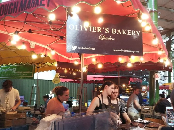 ロンドンのバラマーケットのOlivier's Bakery