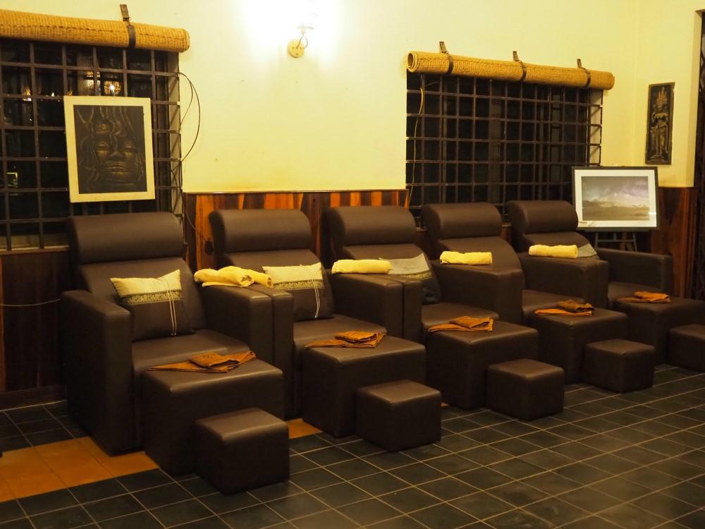 シェムリアップのチャイ・マッサージ(Chai Massage)のフットマッサージの部屋