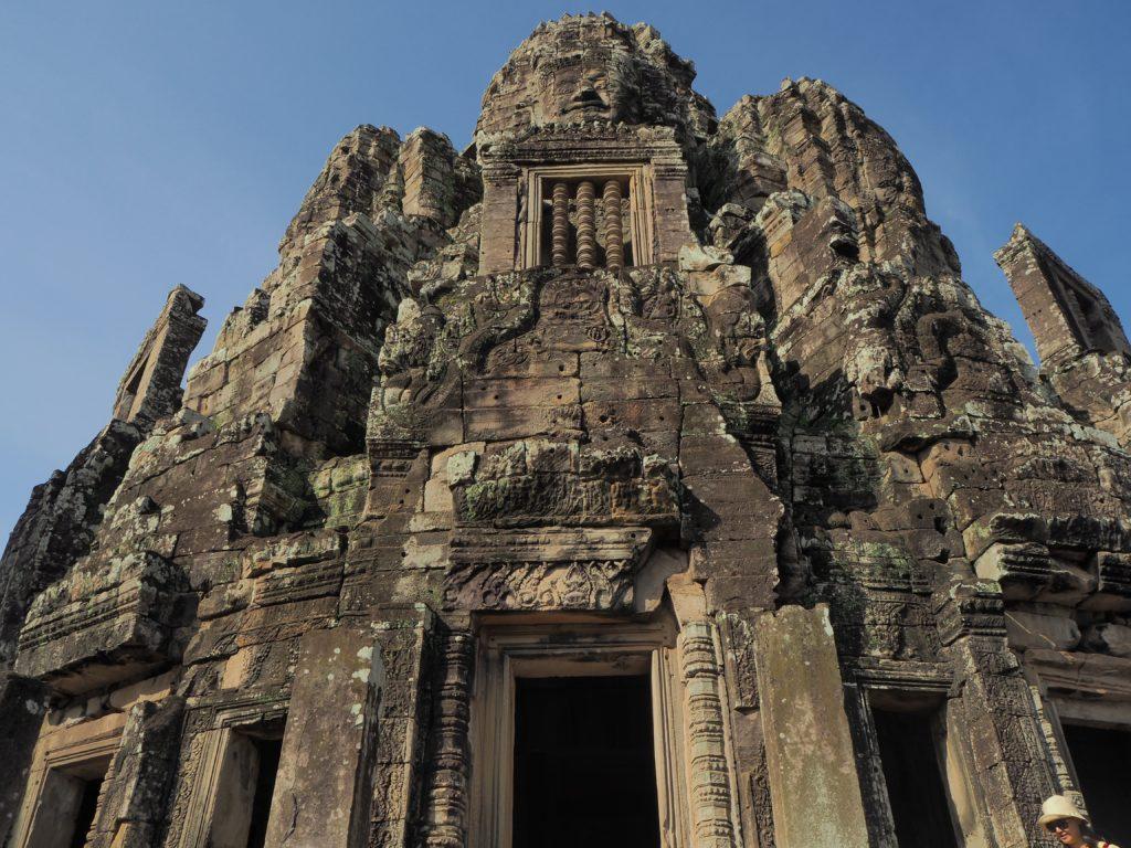 アンコールトムのバイヨン寺院の菩薩の尊顔