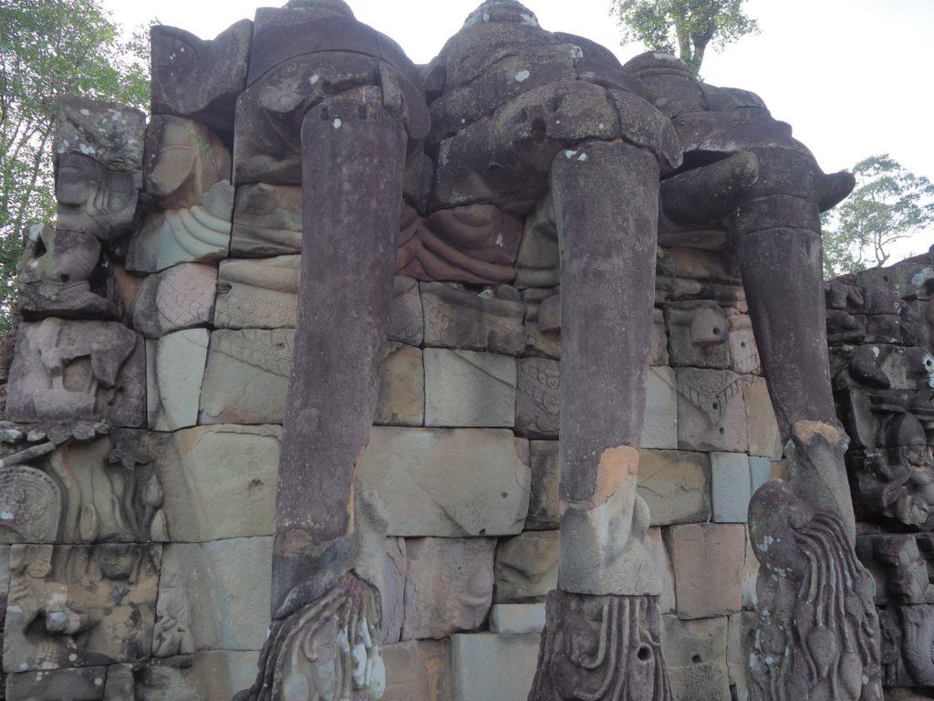アンコールトムの象のテラス