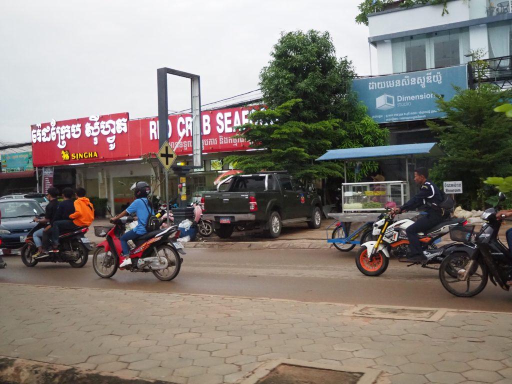 カンボジアのバイタクシー