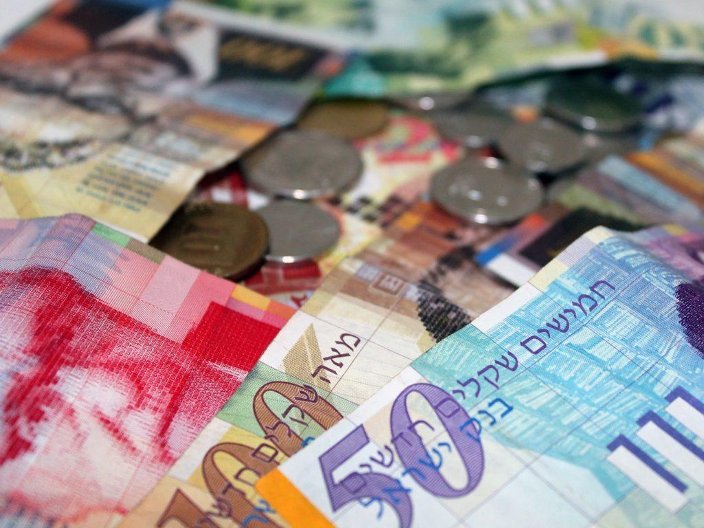 イスラエル、エルサレムの通貨、ニューイスラエル シェケル(NIS)