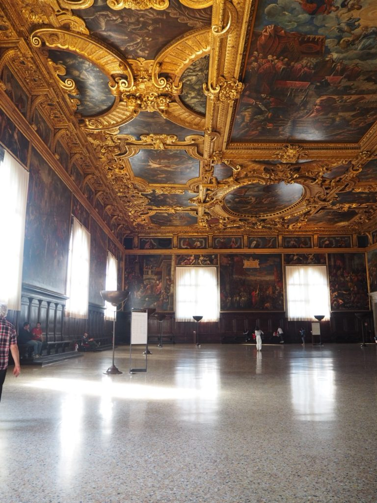ドゥカーレ宮殿(Palazzo Ducale, Doge's Palace)の大評議会の間(Sala del Maggior Consiglio)