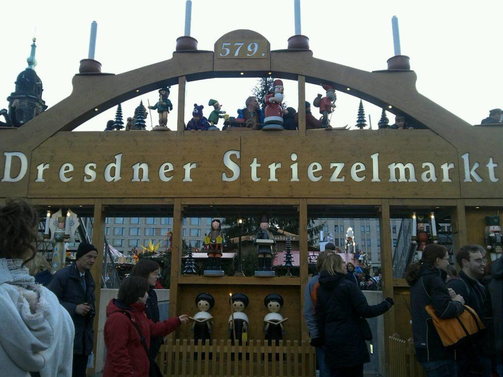ドレスデン・シュトリーツェルマルクト((The Dresden Striezelmarkt)のクリスマスマーケットの入り口