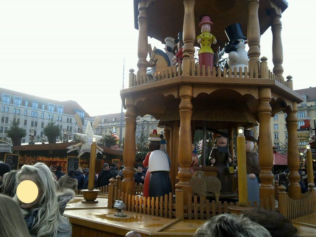 ドレスデン・シュトリーツェルマルクト((The Dresden Striezelmarkt)のクリスマスピラミッド
