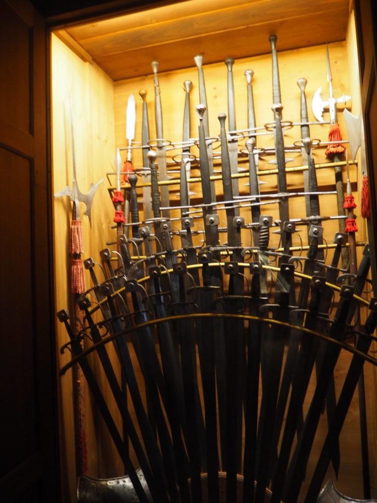 ドゥカーレ宮殿のシークレットツアーで見られる屋根裏の武器庫