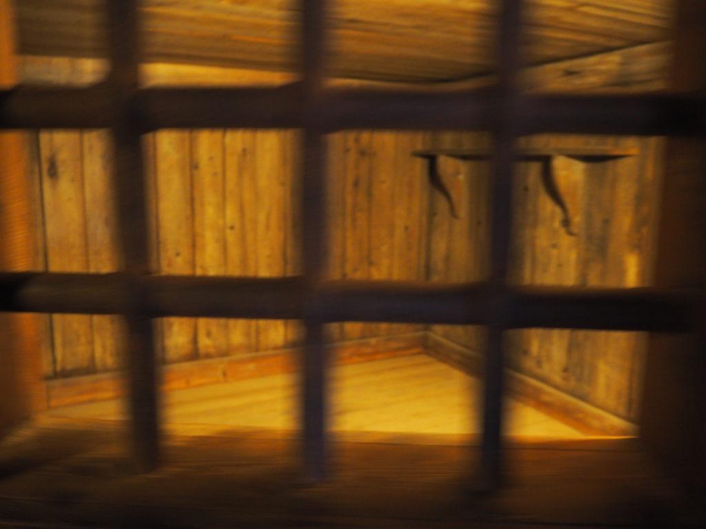ドゥカーレ宮殿においてカサノヴァの脱獄を手伝ったと言われている聖職者の入っていた牢獄