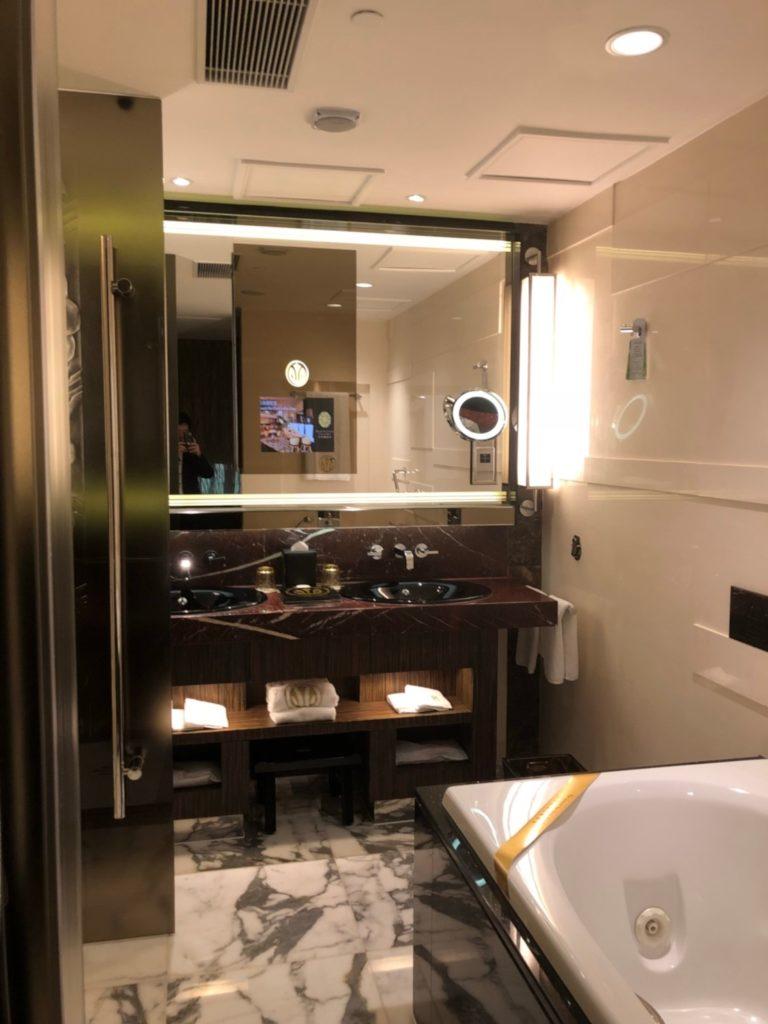 グランド・リスボア・マカオ(Grand Lisboa Macau)客室のバスルーム