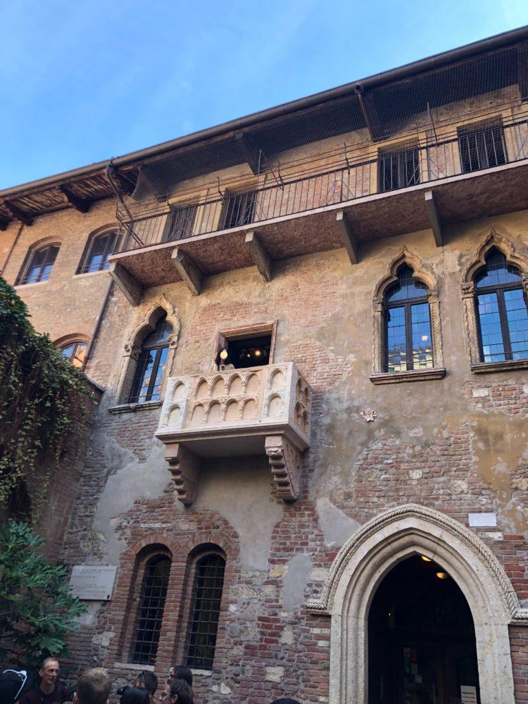 ジュリエットの家(Casa di Giulietta)のバルコニー