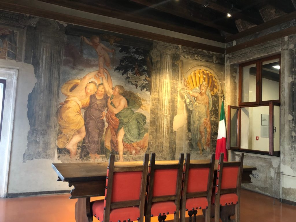 ジュリエットの墓(Tomba di Giulietta)に併設されているフレスコ画博物館のフレスコ画