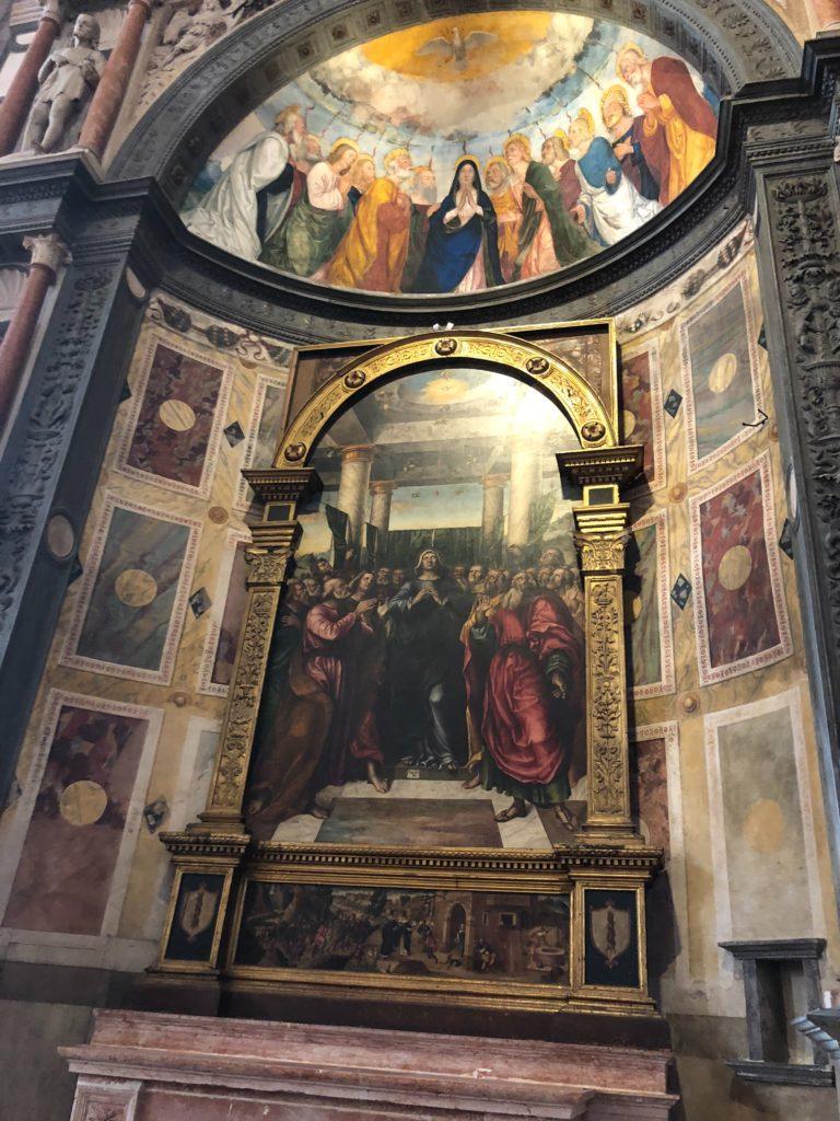 ヴェローナ最大のサンタナスターシア教会 (Basilica di S. Anastasia)のフレスコ画
