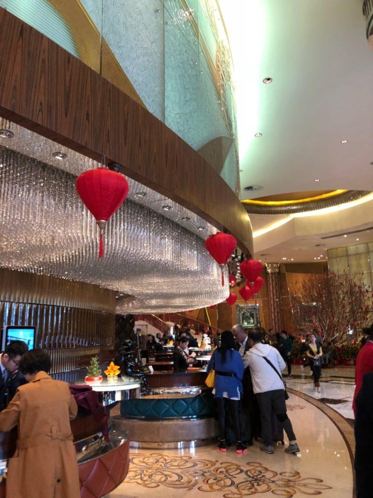 グランド・リスボア・マカオ(Grand Lisboa Macau)のチェックインカウンター