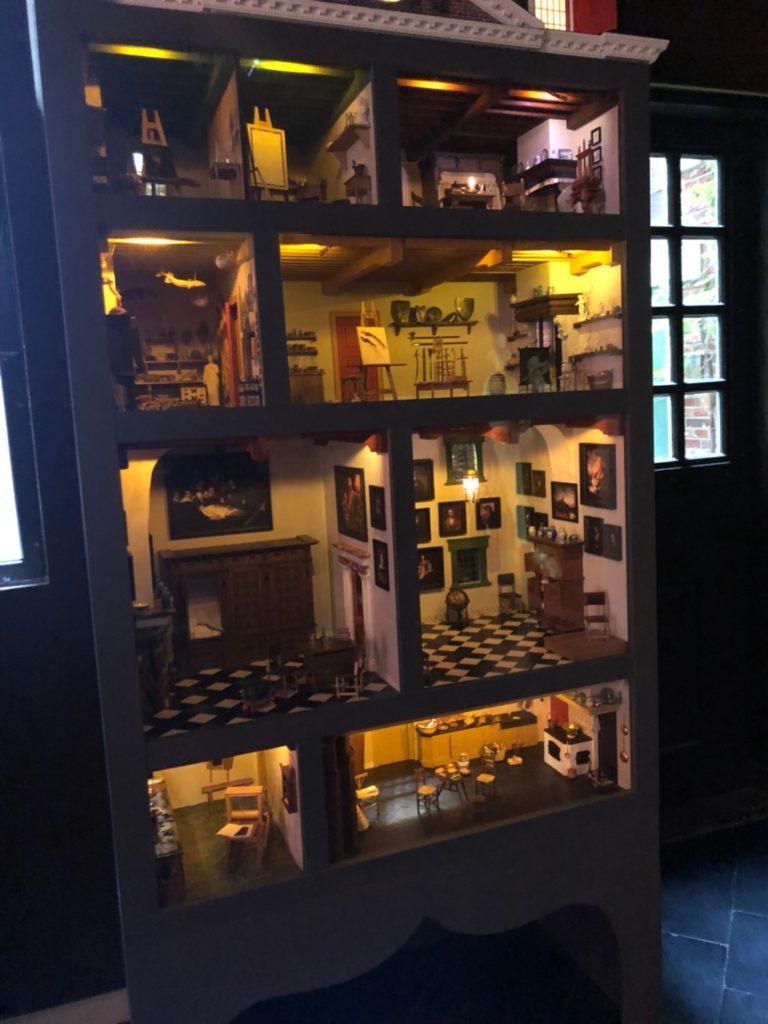 アムステルダムにあるレンブラントの家(Museum Het Rembrandthuis)のミニチュアハウス