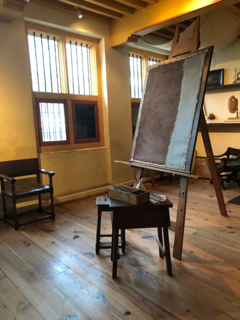 アムステルダムにあるレンブラントの家(Museum Het Rembrandthuis)でレンブラントの使っていたアトリエ