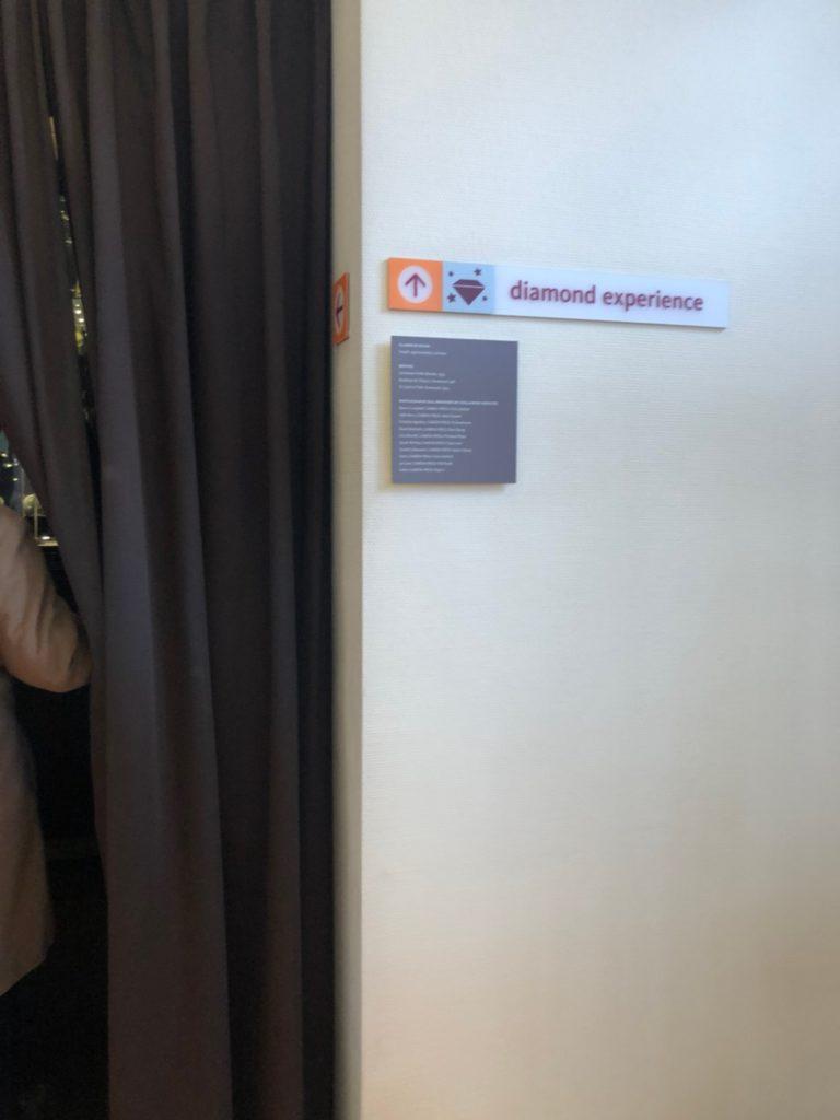 アムステルダムのダイヤモンド博物館(Diamant Museum)のDamien Hirst(ダミアン・ハースト)の頭蓋骨の作品の展示室