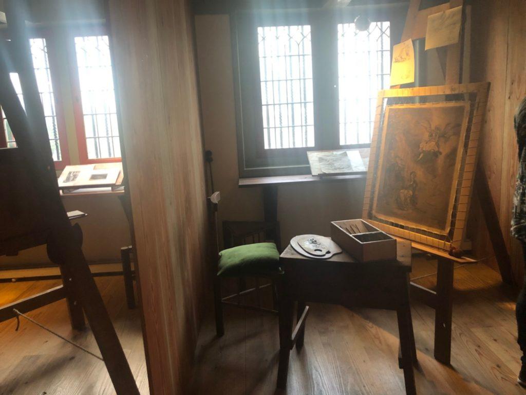アムステルダムにあるレンブラントの家(Museum Het Rembrandthuis)でレンブラントの弟子が使っていたアトリエ