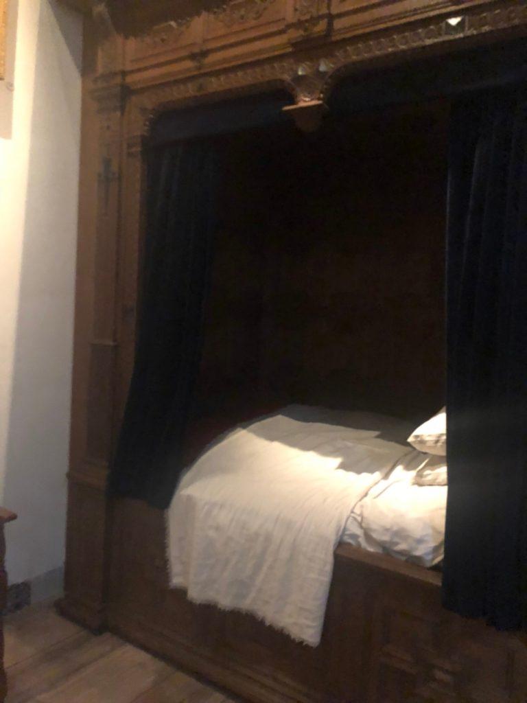 アムステルダムにあるレンブラントの家(Museum Het Rembrandthuis)のベッド