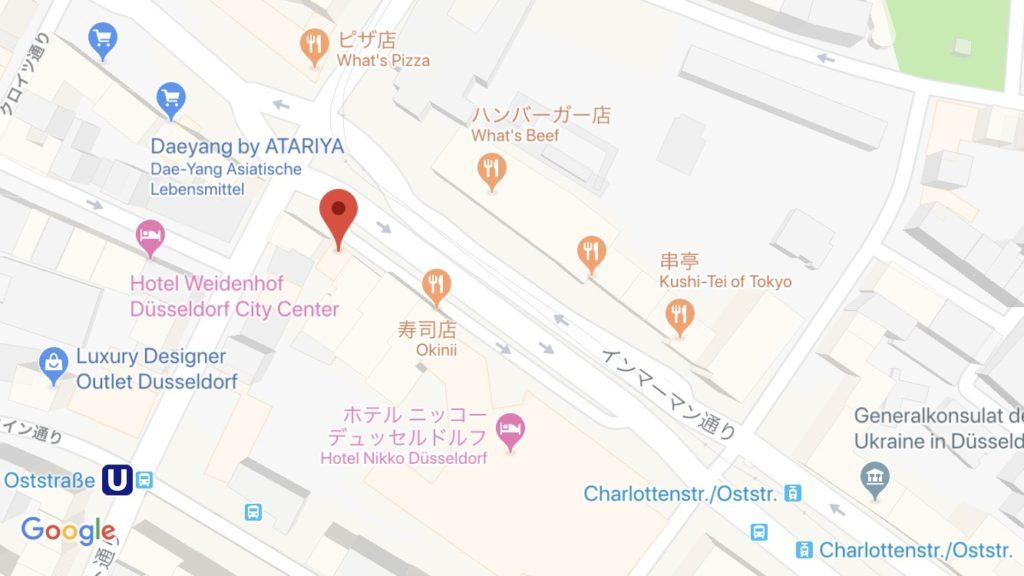 デュッセルドルフのSphere Bay Manga Teehausの場所