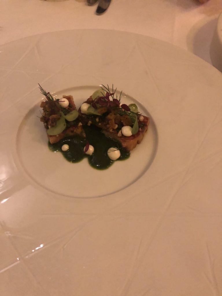 アムステルダムのレストラン、De Silveren SpiegelのSmoked Dutch Eel