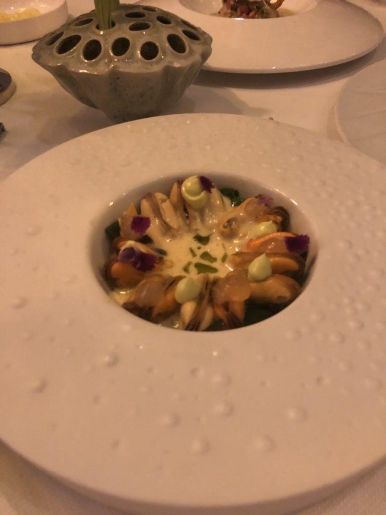 アムステルダムのレストラン、De Silveren Spiegelのmussel、ムール貝