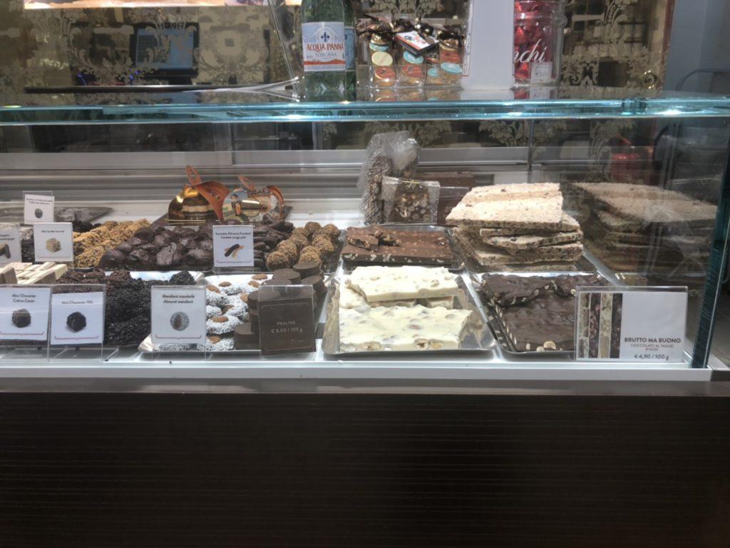 ヴェネツィアのvenchi店内で販売されているチョコレート