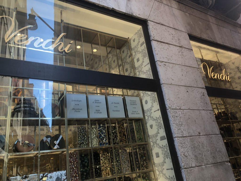 ヴェネツィアのチョコレート店、venchiの外観