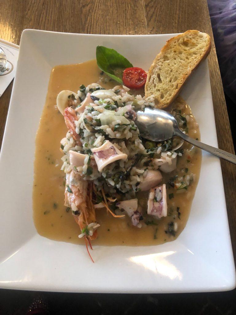 デュッセルドルフのギリシャ料理店、Estiaの海鮮リゾット(Risotto mit Meeresfrüchten)