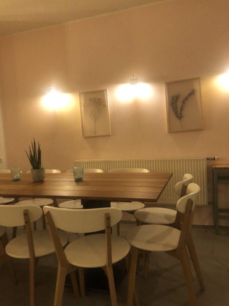 デュッセルドルフのイタリアレストラン、L'animaの店内の様子