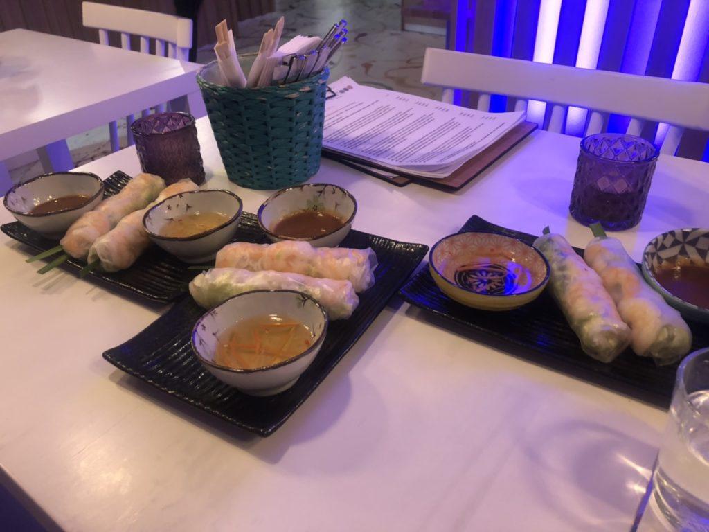デュッセルドルフのベトナム料理店、Quintoooの生春巻き