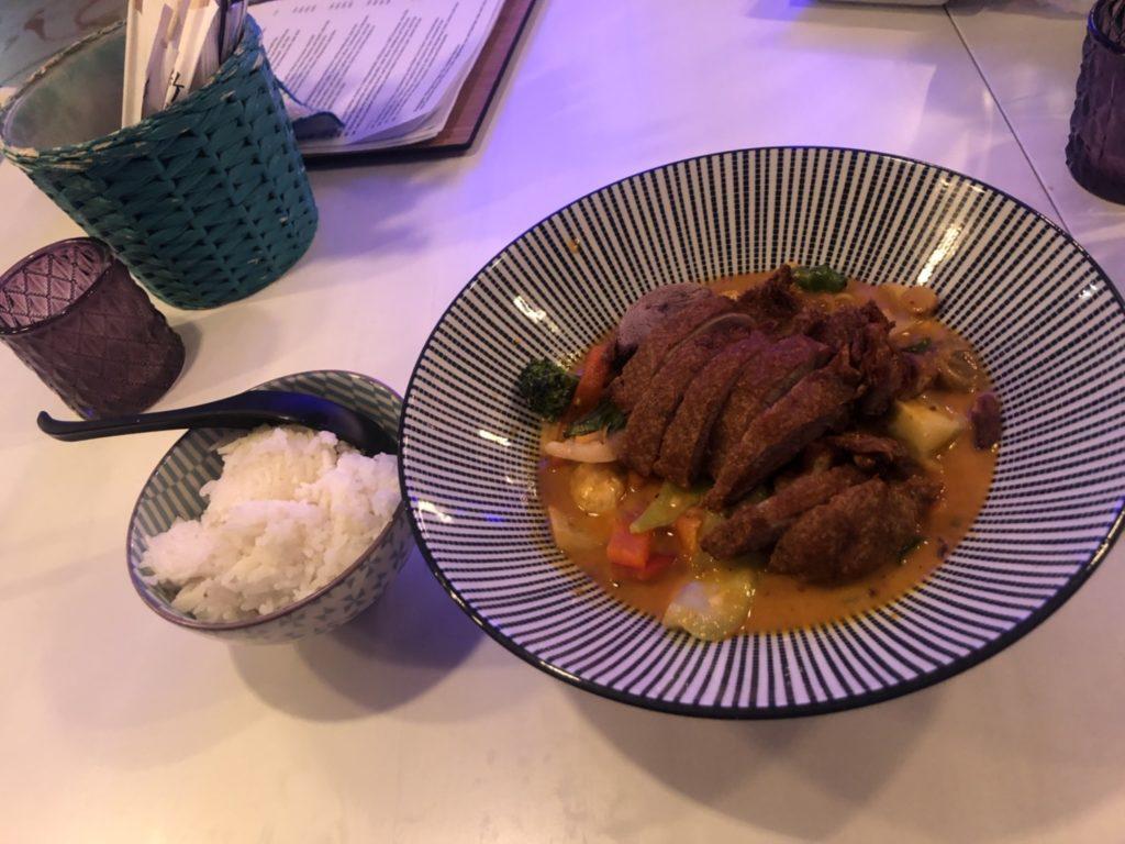 デュッセルドルフのベトナム料理店、Quintoooのカレー