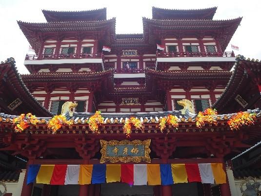 シンガポールのチャイナタウンにある、新加坡佛牙寺龍華院