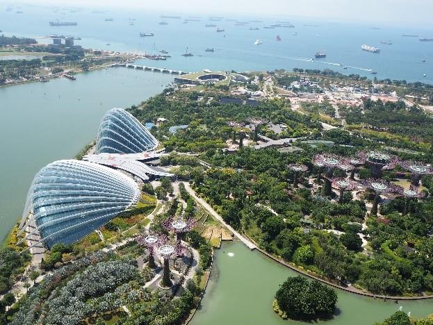 シンガポールのガーデンズバイザベイ(Gardens by the Bay)外観
