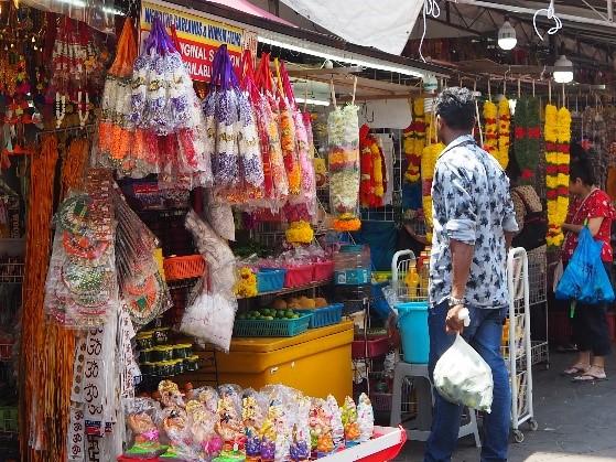シンガポールのリトルインディアのリトル・インディア・アーケード(Little India Arcade)