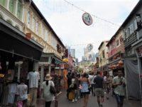 シンガポールのチャイナタウンのパゴタ・ストリート