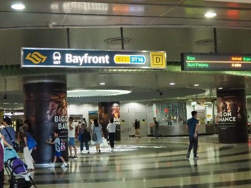 シンガポールの地下鉄(MRT)Bayfront(ベイフロント)駅