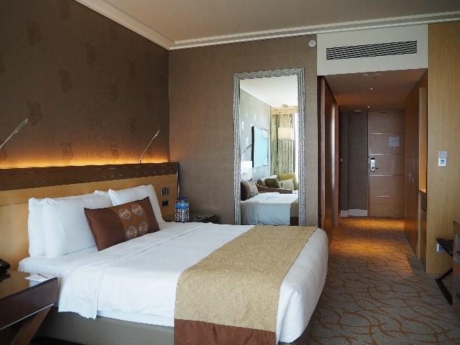 シンガポールのマリーナベイサンズの部屋
