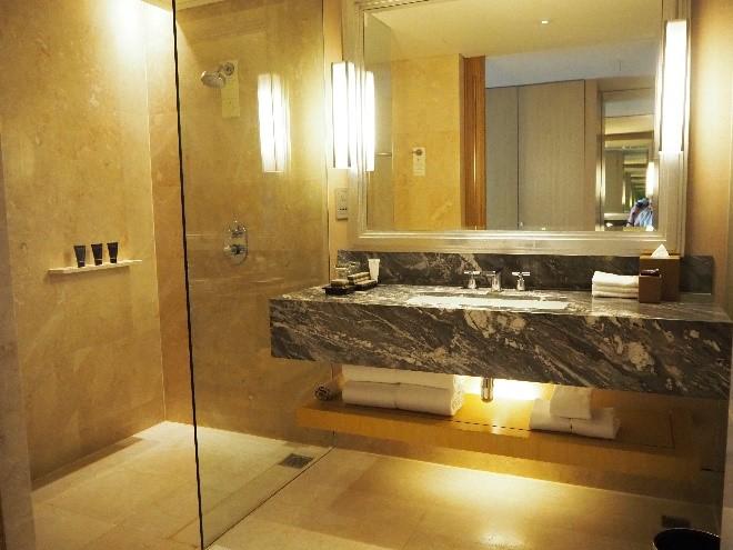 シンガポールのマリーナベイサンズのバスルーム