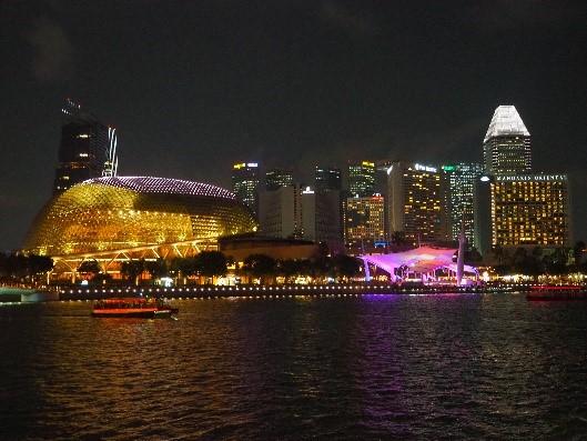 シンガポールの夜景